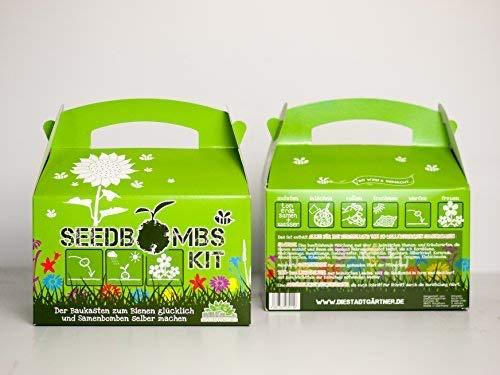 Die Stadtgärtner ✿ Bausatz für Seedbombs ✿ ideal für Kinder ✿ für mehr als 50 Seedbobms