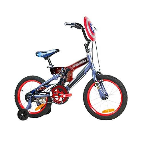 ZGQA-GQA Bicicleta de los niños chico ciclista variable 16 pulgadas cochecito de niño velocidad de bicicletas medio paquete Cadena Cubierta mejor regalo (Color: azul, tamaño: 16inch (115CM * 20CM * lo