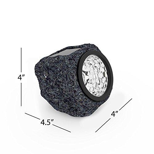 "Pure Garden 50-21 Rock lights, 4"" x 4.5"" x 4.5"", Black/Gray"