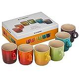 Le Creuset Set de tazas, 6 unidades, Redondo, Cada una 12 cm, Cermica de gres, Multicolor (Arcoris)
