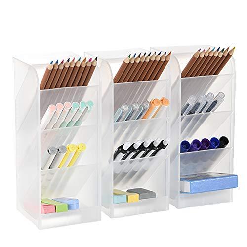 Office School Desk Pen Caddy Organizer Box,Caddies for Office//Students//Teachers//School Supplies Equipment Storage Holder Stationery Make Up Tools