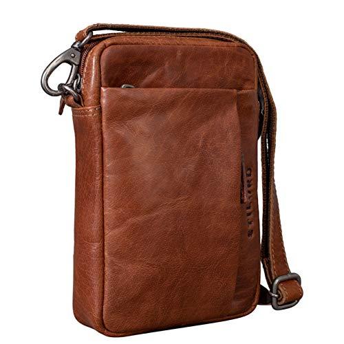STILORD \'Fiete\' 2-in-1 Umhängetasche/Handgelenktasche Leder Herren multifunktionale Handtasche mit abnehmbarem Schulterriemen kleine Ledertasche im Vintage Design, Farbe:Brandy - braun
