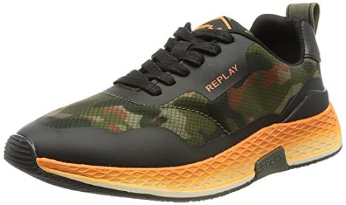 Replay Herren HYBRID-Longview Sneaker, 1665 CAMO Black, 43 EU
