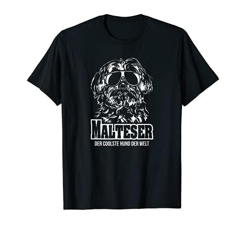 Malteser der coolste Hund lustiger Hundespruch T-Shirt