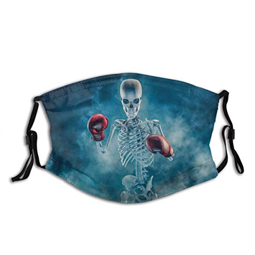 Phantom Boxer 3D Scary Fighter Skeleton Wearing Boxing Gloves Sign Emerging Dust Washable Reusable Filter and Reusable