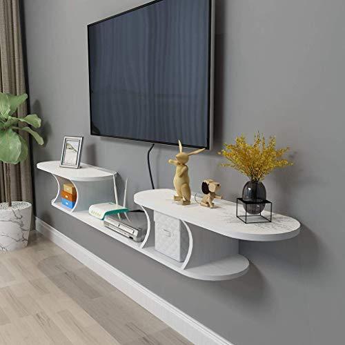 Soporte de pared para TV con soporte de pared para almacenamiento en la pared