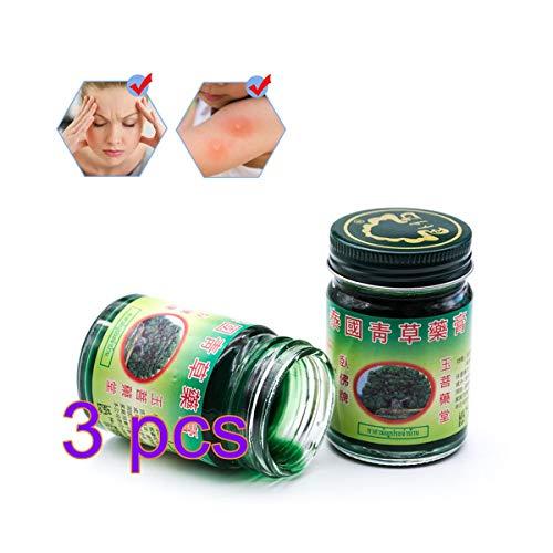 Stylelove 50g Thai Massage Balsam Grüne Kräutersalbe Massage Muskelgelenke Verstauchungsschmerzen Balsam Anti-Moskito Antipruritische Creme