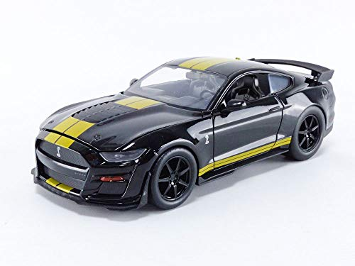 Jada Toys Bigtime Muscle 1:24 2020 Ford Mustang Shelby GT500 Die-cast Car Black Gold, Toys for Kids and Adults