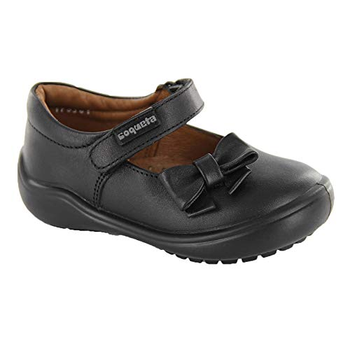 COQUETA Zapatos Escolares para Niña Fabricados En Piel Color Negro con Decoración De Moño 17