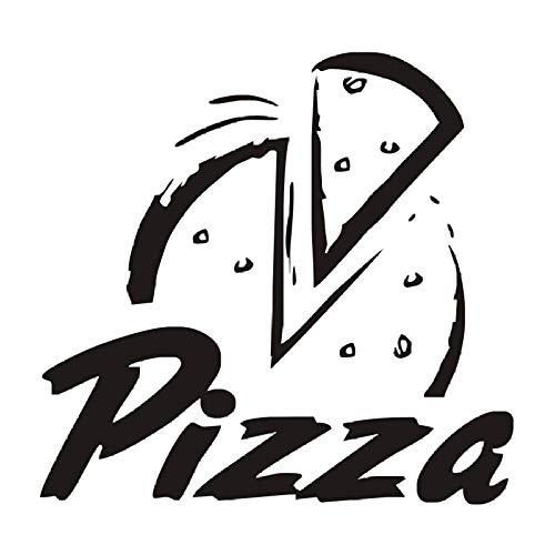 Adesivi murali cucina Decorazione camera Pizza Fai da te Vinile Rimovibile Pizzeria Adesivo murale Adesivi per la casa Art Poster Papers 61X58Cm
