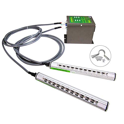 YUCHENGTECH Ionizing Air Bar 20cm Anti Static Bars Static Eliminator ESD Ionizer 2 Ion Rods + 7KV High Voltage Generator 110V