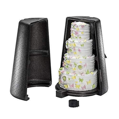 thermohauser EPP-Thermobox Etagen-Tortenständer, schwarz, für eine max. 5-stöckige Etagere mit max. Durchm. 46 cm und 72 cm Höhe