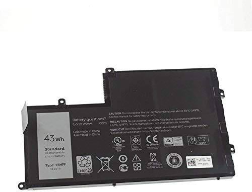 Binger New TRHFF Replacement Laptop Battery for Dell Inspiron 14-5447 15-5547 Maple 3C, Dell Inspiron 15 5445 5448 5545 5548 P/N: TRHFF 1V2F6 prr13g01 01V2F6 Dl011307 0PD19(11.1V 43WH)