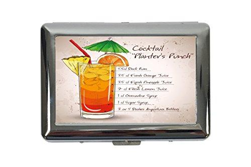 Zigarettenetui Box Plakat Motiv Cocktail Planter\'s Punch Bedruckt Küchenmotiv