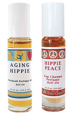 Aging Hippie (Patchouli) + Hippie Peace (Nag Champa) Perfume Oil Roll On - Set of 2
