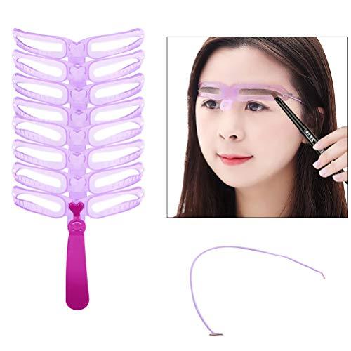 Sapphery Pochoir en plastique pour sourcils pour femme