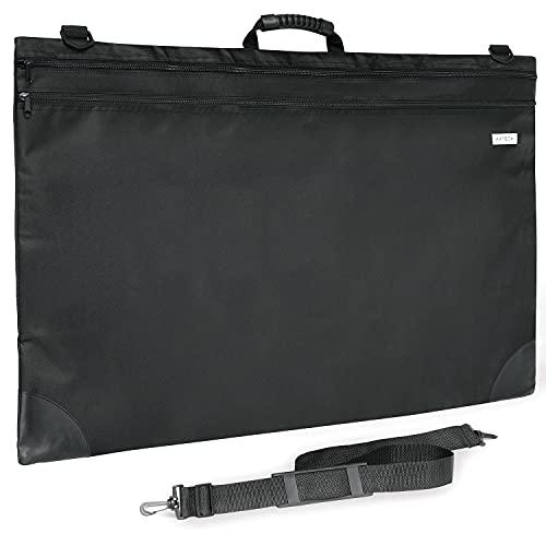 Arteza Art Portfolio Case, 24 x 36 inches, Black, Large Soft Art Storage Folder for Artwork Organization