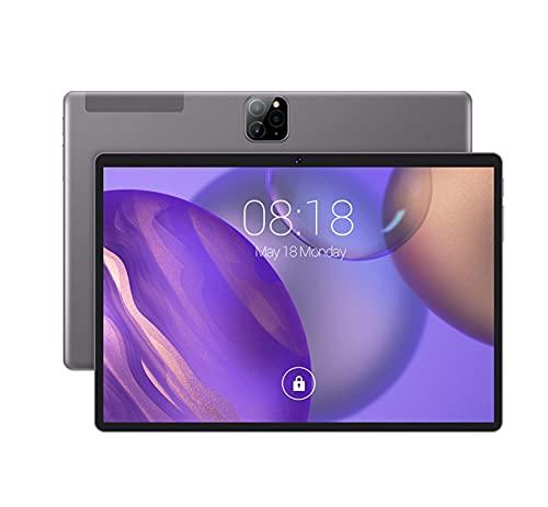 Fringe Trim Tablet Pc, Tablet Pc-10.1 Pulgadas, Pantalla IPS De Alta Definición De 4g De Alta Definición para Llamadas(Color:Gris)