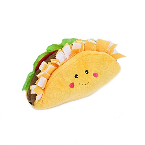 ZippyPaws  NomNomz Plush Squeaker Dog Toy for The Foodie Pup  Taco