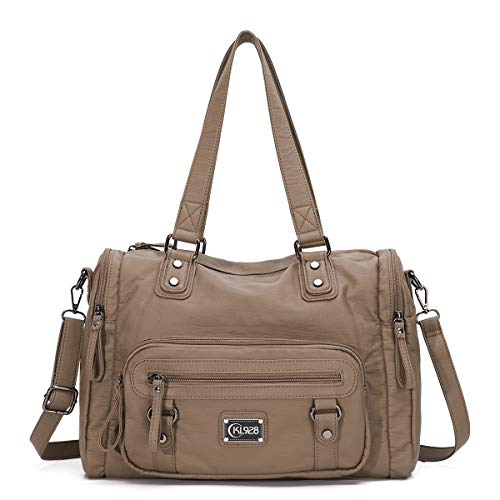 KL928 Womens Hobo Purses and Handbags Waterproof PU Washed Leather satchel Bags for Women