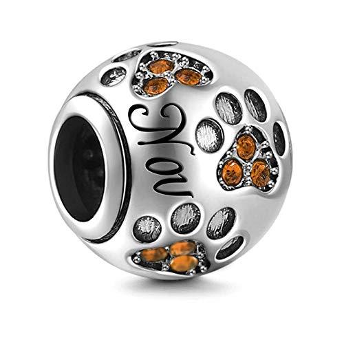 Pandora Jewelry Braccialetto 925 Natural Silver Color Birthstone Charm Fit Braccialetto originale Making Fashion Regali fai da te di novembre per le donne