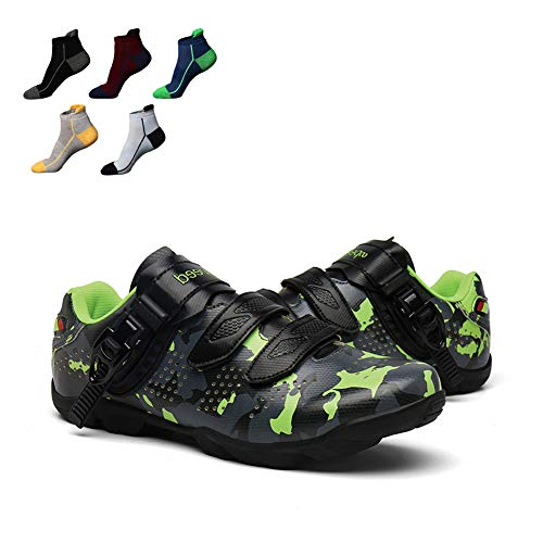 UYBAG Non-Slip Road Bicycle Shoes Wear Resistant Triathlon Racing Shoes Lightweight MTB Cycling Shoes with 5 Pairs Sports Socks No Lock The Best Choice for Beginners,36