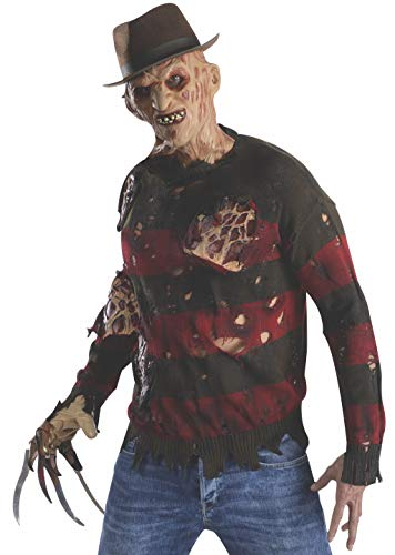 Rubie's Herren Nightmare On Elm St Adult Kostüm Pullover mit brennendem Latex Flesh - - Standard