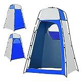 XUEXIU Tiendas De Ducha De Inodoro Al Aire Libre Camping Tienda De Campaña Viajes De Privacidad Cambio De Vestuario para Pesca Picnic Senderismo Baño Bañán Carpa (Color : Blue Grey)