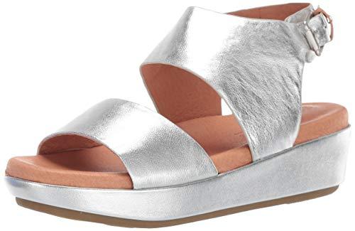 Gentle Souls by Kenneth Cole Women's Lori Platform Sandal Sandal, silver, 9.5 M US