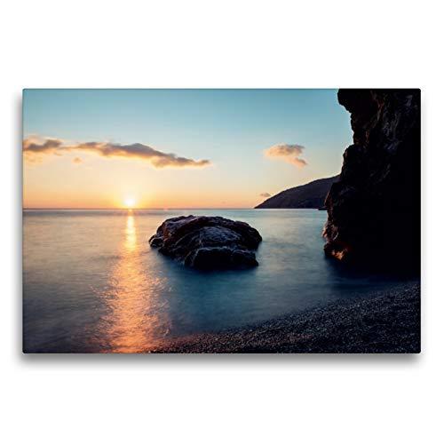 Premium Textil-Leinwand 75 x 50 cm Quer-Format Strand von Kira Panagia | Wandbild, HD-Bild auf Keilrahmen, Fertigbild auf hochwertigem Vlies, Leinwanddruck von Frank Mitchell