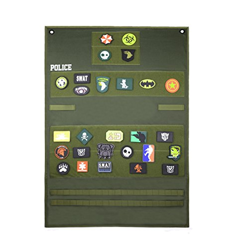 SHANGRI-LA Tactical Velcro Patch Panel Badge Holders & Morale Patches/Military Patch Holder Board Hook & Loop Patch Panel/Sports Fan Sleeve Patches(Green)