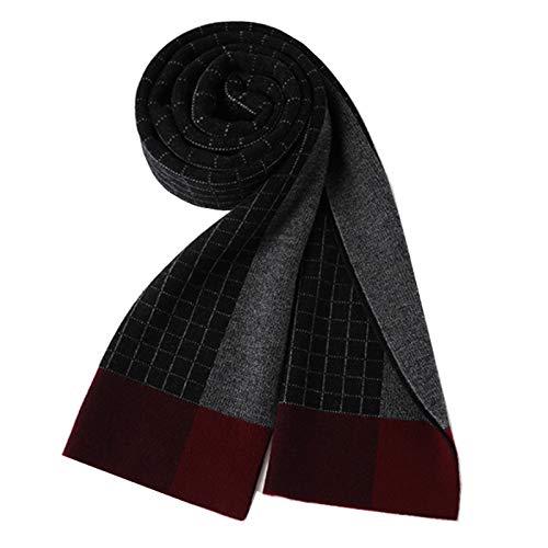 Bufandas Chal 100% pura lana bufanda de invierno de los hombres de moda de la tela escocesa caliente grueso bufandas de gama alta de la caja de regalo regalo adecuado for el novio Moda Bufandas