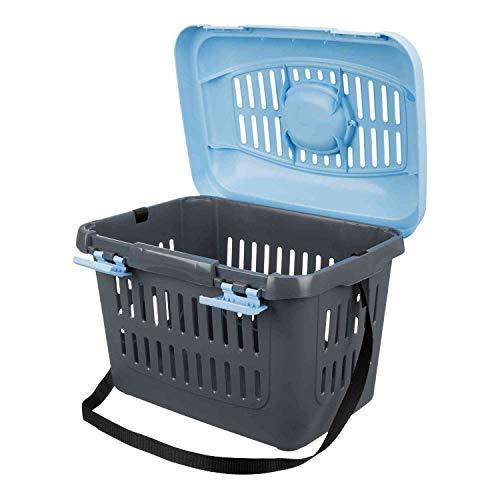 Trixie 3979 Midi-Capri Transportbox, 44 × 33 × 32 cm, blau/grau - 3