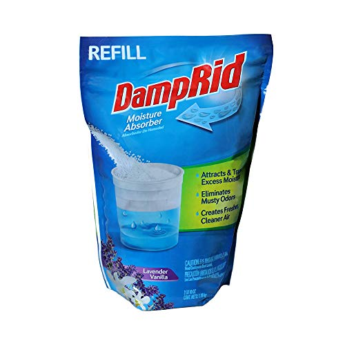DampRid - Lavender Vanilla Moisture Absorber - 42 oz. Refill Bag – Attracts & Traps Moisture for Fresher, Cleaner Air