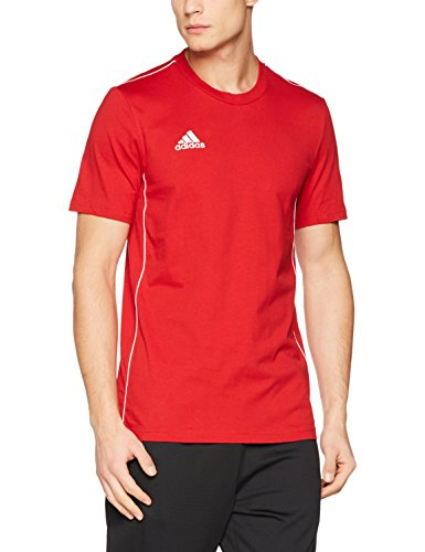 adidas Herren CORE18 Tee T-Shirt, Power red/White, 3XL