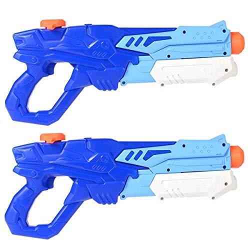 GOLDGE Wasserpistole Spielzeug Set 2 Stück 600ML Wasserpistole Schwimmbade Spielzeug mit 500PCS Wasser-Bomben Wasserballons für Kinder zum Sommerpartys Wassersport Spielzeug