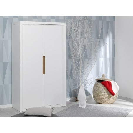 Alfred & Compagnie Armoire 2 portes Blanc
