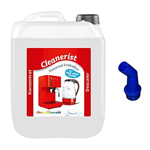 Cleanerist - Concentrado antical para cafeteras automáticas y máquinas de café   Adecuado para todas las marcas conocidas   Eliminador de cal extra profundo – 5000 ml