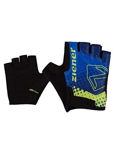 Ziener Unisex Kinder CURTO Fahrrad-, Mountainbike-, Radsport-Handschuhe   Kurzfinger - atmungsaktiv/dämpfend, persian blue, L