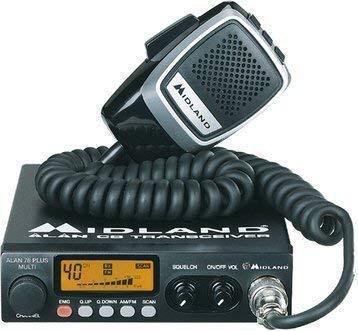 Midland 78 Plus 80 Kanal AM FM Radio Transceiver CB Multiband & Handmikrofon mit Fallstudien CM-750PK Inverter