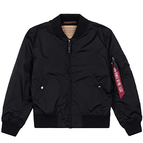Alpha Industries MA-1 TT Kinder Jacke Schwarz 146-152