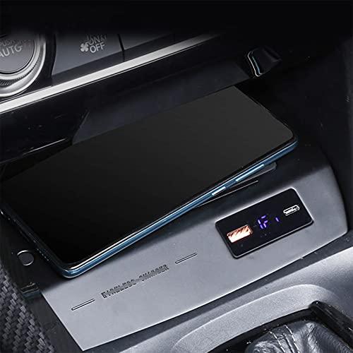 Compatible con H-Onda Civic 10th 2021-2016 Qi 15w Cargador Inalámbrico Coche Compatible con Smartphones Placa De Carga Inalámbrica