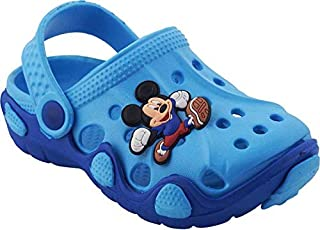 T R TRADERS Kids Eva Clogs (for 8 Month to 6.5 Years) (Sky Blue & Blue)