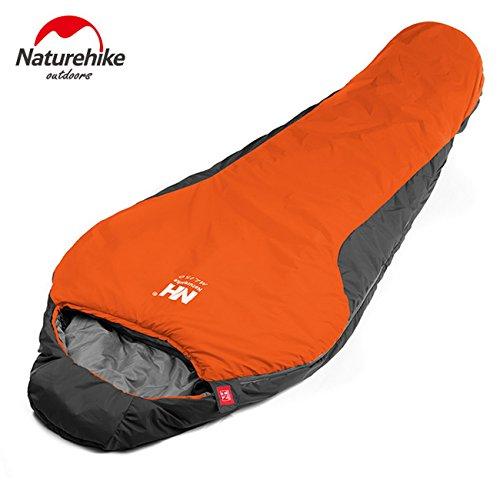 Naturehike Mummia Sacco a Pelo Ultralight Campeggio & Escursioni per Autunno Inverno nh15s013di D Orange
