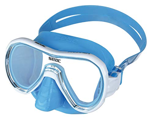 SEAC Panarea Single Lens Snorkelling Masker met Hypoallergene Gekleurde Rok en Frame