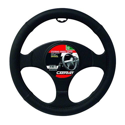 Carpoint 2510047 Couvre Volant en Cuir Noir