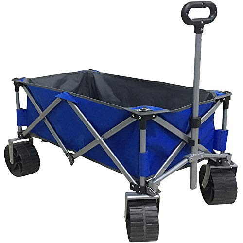 Eurmax Sports Collapsible Sturdy Steel Frame Garden Carts on Wheels Utility Beach Wagon Cart with...