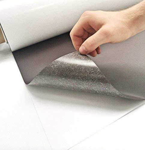 Eisenfolie - Ferrofolie 620mm x 1000mm x 0,4mm selbstklebend - Haftgrund für Magnete - Magnetfolie
