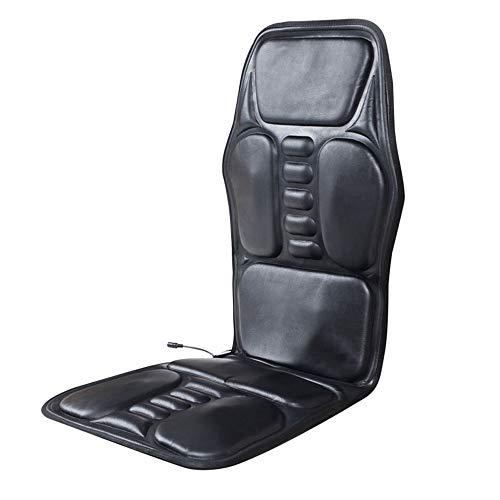 Autostoel Massage, Elektrische Verwarming Massage Kussen 9 Motoren Trillingen 8 Modi Terug Hals Dij Taille verlichten Vermoeidheid Pijn voor Thuis Auto Kantoor