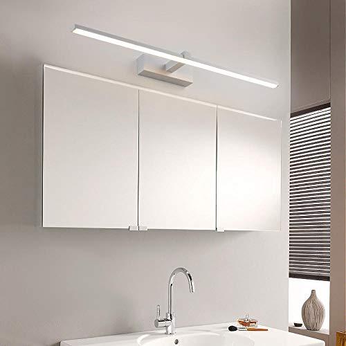 LANKOULI Moderne led spiegelleuchten Lange schwarz/weiß 0,4-1,2 mt Anti-Fog led Bad Lichter schminktisch/wc/Bad spiegelleuchte-Weiß_14W 80CM